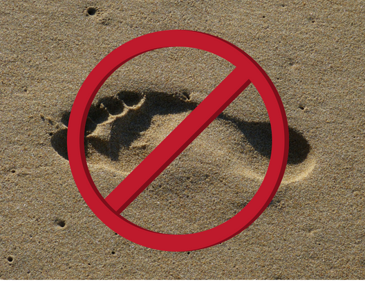 no footprint in the sand