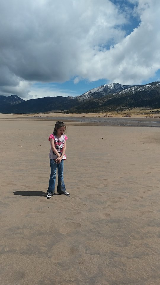 Katie at Great Sand Dunes National Park