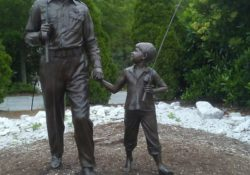Andy Griffith and Opie TV Land Statue