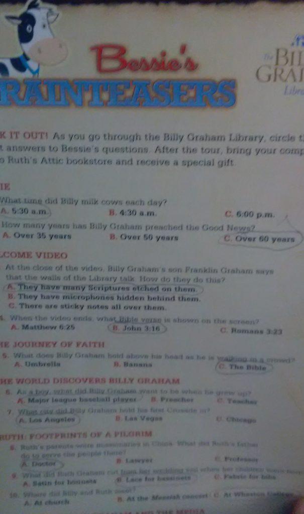 bessies brainteasers card
