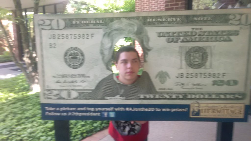 Joshua in twenty dollar bill