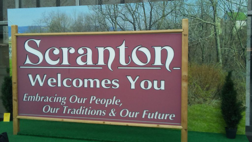 Scranton Welcomes You Sign