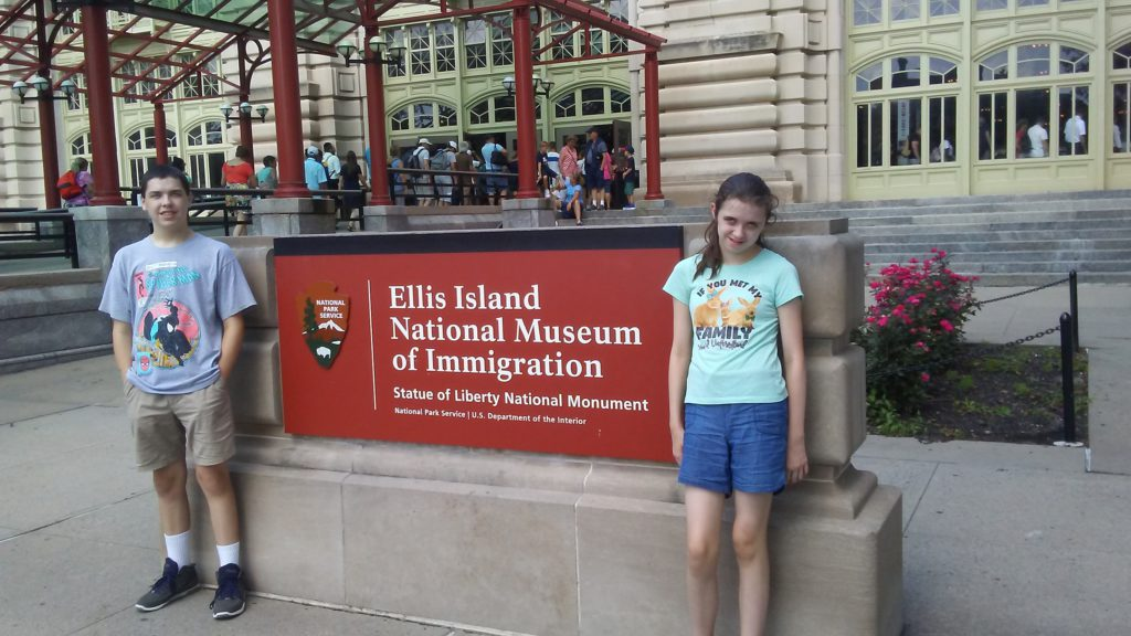 kids at Ellis island