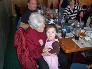 Grandma and Katie in 2011
